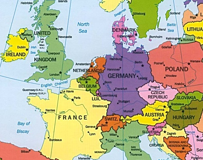 About ENIL West – Map of France and Belgium